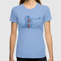 Aqua Womens Fitted Tee Athletic Blue SMALL