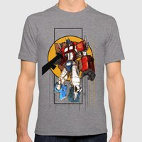 Prime Mens Fitted Tee Tri-Grey SMALL