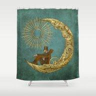 Moon Travel Shower Curtain