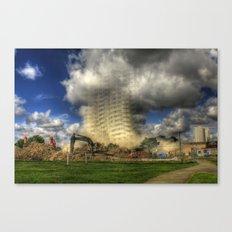 Demolition of Bridgeman House Hull 2012 Canvas Print