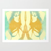 Monica Bellucci X 2 Art Print