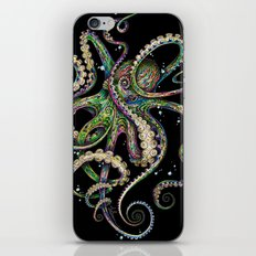 Octopsychedelia (black) iPhone & iPod Skin