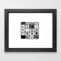 I am a pattern, pattern Framed Art Print