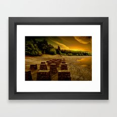 Pillars of the Past Framed Art Print