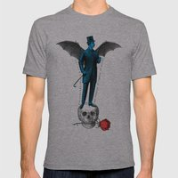 the complex of righter of wrongs Mens Fitted Tee Athletic Grey SMALL