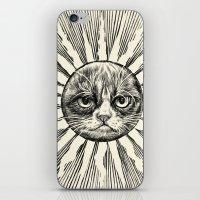 Grumpy Face in Sun iPhone & iPod Skin