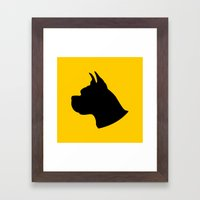 Deutsche Dogge Framed Art Print
