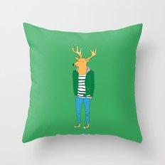 Mr. deer Throw Pillow