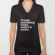 Create Something Today E… Unisex V-Neck