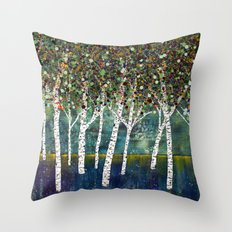 Evening Aspens Throw Pillow