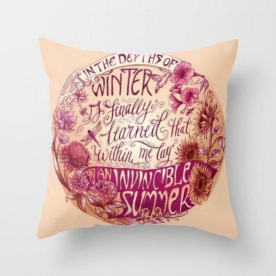 Invincible Summer Throw Pillow