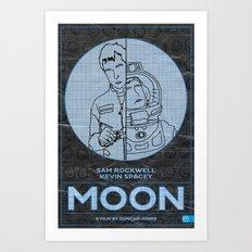 Moon… Art Print