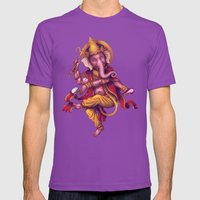 Ganesha (Color Variation 4) Mens Fitted Tee Ultraviolet SMALL