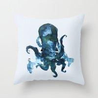 Oceanic Octo Throw Pillow