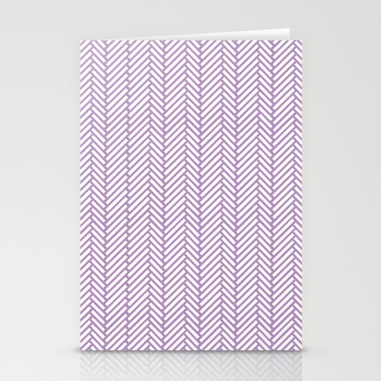 Herringbone Orchid Stationery Card