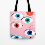 Noob - Eyes Memphis Retr… Tote Bag