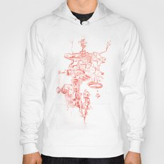 Abstract Lines, Linear Pyramid Space Hoody