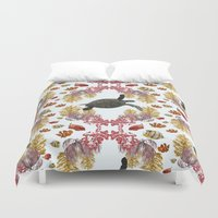 Coral Diamonds Duvet Cover