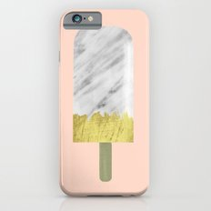 Carrara Italian Marble with Gold Popsicle iPhone 6 Slim Case
