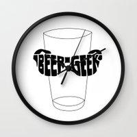 Beer Geek Wall Clock