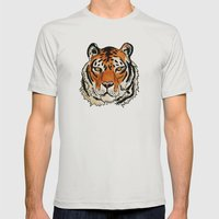 Tiger Mens Fitted Tee Silver SMALL