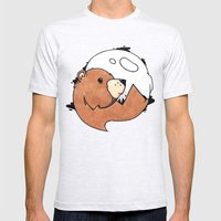 Moonbear Mens Fitted Tee Ash Grey SMALL