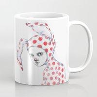 Red Dotted Bunny Mug