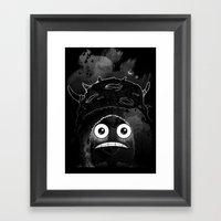 Alone In The Dark Framed Art Print