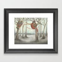 In the Quilted Forest I  Framed Art Print