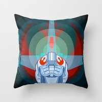 Red leader standing by Throw Pillow