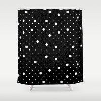 Pin Point Polka Dots Whi… Shower Curtain
