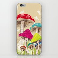 Magical Mushrooms iPhone & iPod Skin