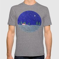 Night Scenes Mens Fitted Tee Tri-Grey SMALL