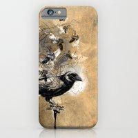 iPhone & iPod Case featuring crow's soul by Duygu Kondoglu