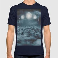 Uncertain. Alone. Cratered By Imperfections. (Loyal Moon) Mens Fitted Tee Navy SMALL