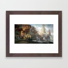 canyon city in the clouds Framed Art Print