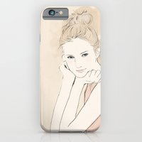 iPhone & iPod Case featuring Fashion illustration - A Young Girl by Joe Tin Illustration