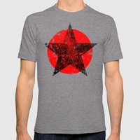 Circle and star Mens Fitted Tee Tri-Grey SMALL