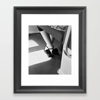 Light On The Way To Work Framed Art Print