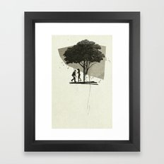 (Down By The) Family Tree | Collage Framed Art Print