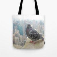 New York Pigeons Tote Bag