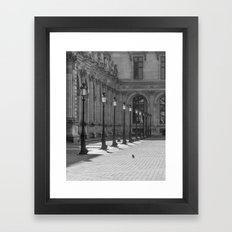 Lampposts Black And Whit… Framed Art Print