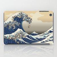 The Great Wave of Pugs Vanilla Sky iPad Case