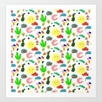 Shrimp Art Print