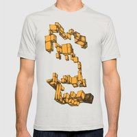 Boxes Mens Fitted Tee Silver SMALL
