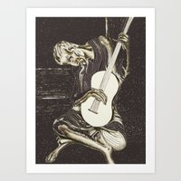The New Old Guitarist (p… Art Print