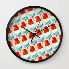Bomp Pop Pattern Wall Clock