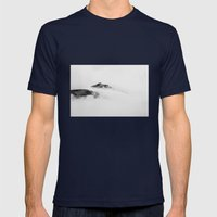 Mountains in the Clouds Mens Fitted Tee Navy SMALL