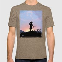 Riddler Kid Mens Fitted Tee Tri-Coffee SMALL
