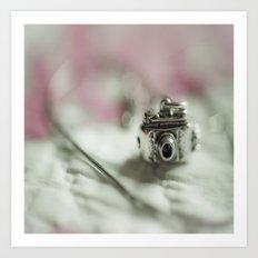 Camera Charm Art Print